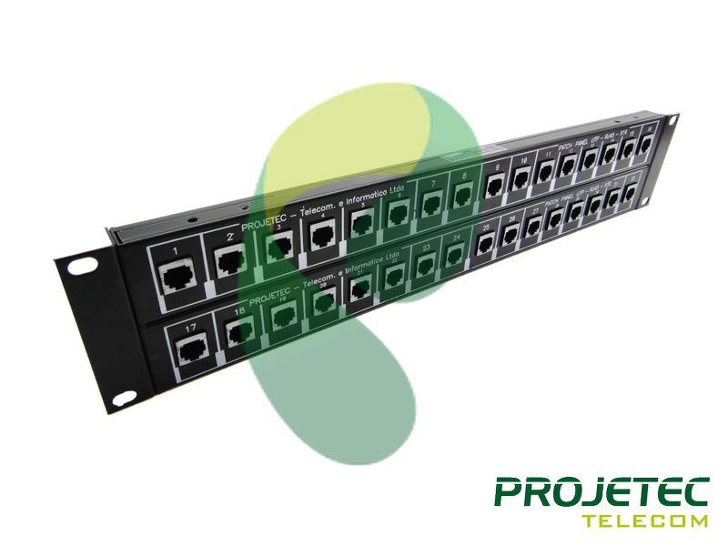 319 - PATCH PANEL 48P RJ45RJ45 UTP CAT5E 2U PERSPECTIVA FRT